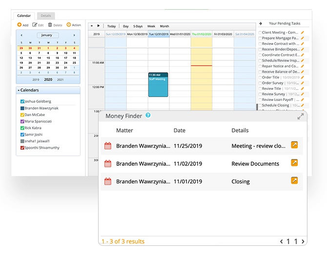 Calendar and Task Management
