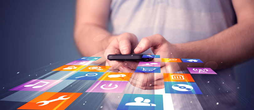 mobile applications on phone